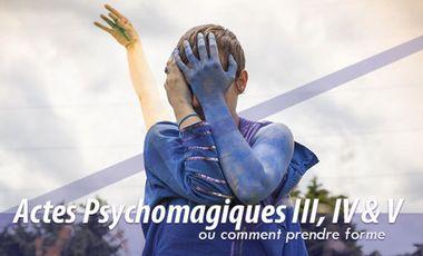 Visueel van project Actes psycho-magiques III, IV et V ou comment prendre forme