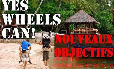 Project visual Yes Wheels Can : un fauteuil roulant pour un globe-trotteur / A wheelchair for a globetrotter