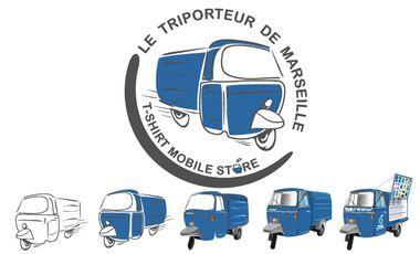 Visueel van project Le triporteur de Marseille :  Le 1er T-shirt mobile store Marseillais