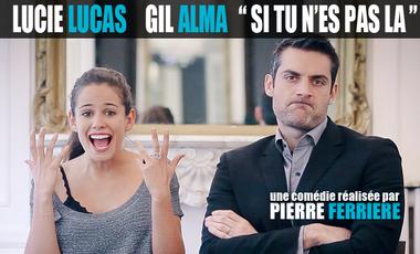 Visuel du projet SI TU N'ES PAS LÀ, avec Lucie LUCAS et Gil ALMA