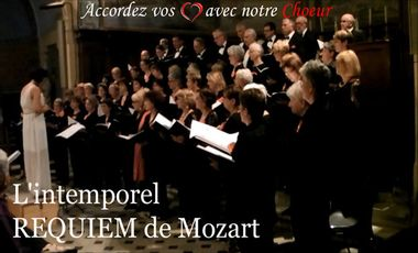 Visueel van project L'intemporel  REQUIEM de Mozart