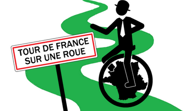 Visueel van project Tour de France en Monocycle !