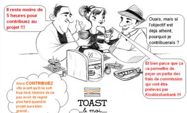 Project visual Toast&moi, ou l'apéro dinatoire dans les bars !