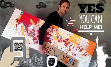 Visueel van project Hey guys, un artiste frenchie crée des QR codes sur New York et à New York !
