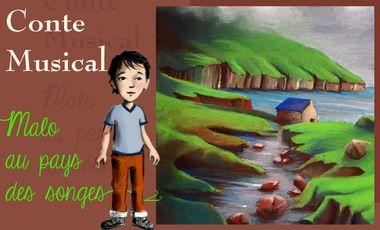 Project visual Malo au pays des songes ( livre CD )