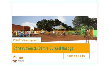 Project visual Construction centre culturel Raadga