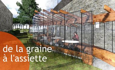 Visueel van project de la GRAINE à l'ASSIETTE