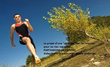"""Visuel du projet Le projet d'une """"seconde"""" vie, se relancer pour ne rien regretter... PARTAGEONS LA VICTOIRE"""