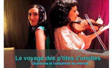 Visuel du projet CD Le voyage des p'tites z'oreilles