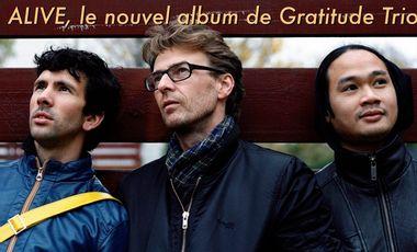 """Visuel du projet """"ALIVE""""  nouvel album de GRATITUDE TRIO"""