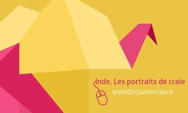 Project visual Inde, les Portraits de craie