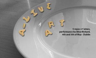 Visueel van project Performance/ 5 repas à T'aimes.