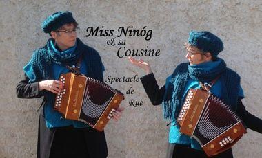 "Visueel van project ""Miss Ninóg & sa Cousine"" : Spectacle de Rue"