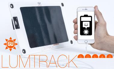 Project visual LUMTRACK SOLAR, lancement d'un panneau solaire nomade ultra fin, ultra léger et flexible.