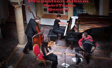"""Visueel van project Aide à la Promotion de l'Album """"Chin Chin"""" du Spiritango Quartet"""