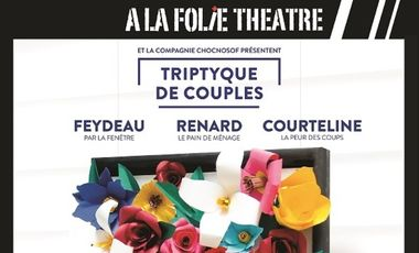 Project visual Triptyque de couples : Feydeau-Renard-Courteline