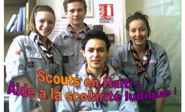 Visueel van project Scouts en Haïti, aide ludique à la scolarité !