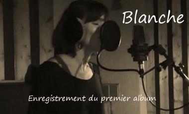 Project visual Blanche, enregistrement du 1er album