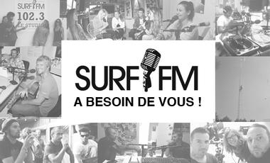 Visueel van project Radio associative : Surf FM a besoin de vous !