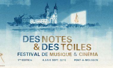 """Visuel du projet """"Des Notes et des Toiles"""" : festival de musique et cinéma de Lorraine"""