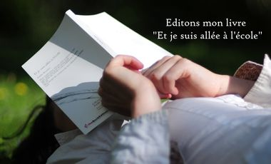 """Visueel van project Edition de mon livre """"Et je suis allée à l'école"""""""