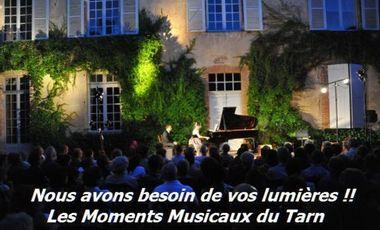 Visuel du projet Les Moments Musicaux du Tarn ont besoin de vos lumières