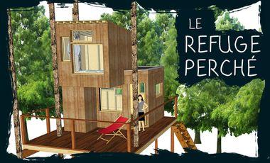 Project visual Le refuge perché, une cabane au dessus du lac