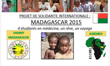 Visueel van project Solidarité à MADAGASCAR : 4 étudiants en médecine, un rêve, un voyage