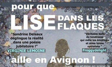 Visueel van project LISE DANS LES FLAQUES au festival d'Avignon !