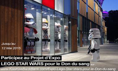 Visuel du projet Expo Lego Star Wars pour le Don du sang