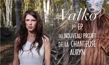 Project visual Valkø 1er EP du nouveau projet de la chanteuse Auryn