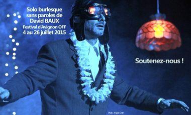 Project visual SOLO de David BAUX au Festival Avignon OFF du 4 au 26 juillet 2015