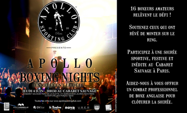 Project visual Apollo Boxing Nights 2015