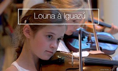 Project visual Louna, violoniste de 10 ans, s'envole vers le festival d'Iguazu en Argentine
