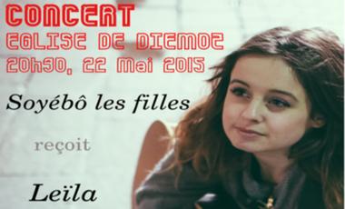 Project visual Soyébô les filles en concert avec Leïla