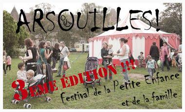 """Visuel du projet 3eme édition du festival petite enfance et famille """"Arsouilles!"""""""