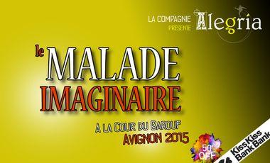 """Visuel du projet """"Le Malade Imaginaire"""" à la Cour du Barouf : Avignon 2015"""