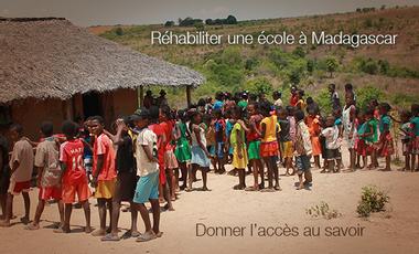 Visueel van project Réhabiliter une école à Madagascar, c'est donner l'accès au savoir.