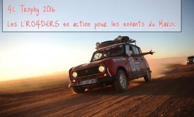 Visueel van project 4L Trophy 2016 - Les L'RO4DERS en action pour les enfants du Maroc