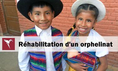 Project visual Aide humanitaire - reconstruction d'une salle de motricité dans un orphelinat - Bolivie
