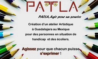 Visuel du projet PATLA : aidez nous à créer un atelier d'expression au Mexique