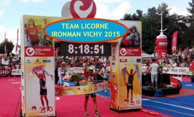 Project visual TEAM LICORNE IRONMAN VICHY 2015
