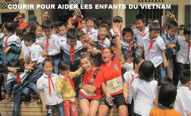 Project visual Courir pour aider les enfants du Vietnam