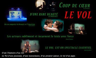 Visuel du projet LE VOL à l'affiche au Lucernaire !