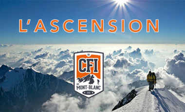Visueel van project L'ASCENSION (du CFI au mont Blanc)