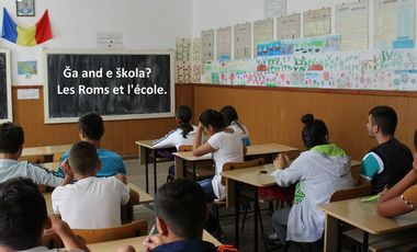 "Visueel van project ""Ğa and e škola?"" Les Roms et l'école. Roma people and education."