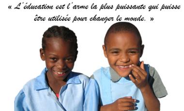 """Visuel du projet """"L'éducation est l'arme la plus puissante qui puisse être utilisée pour changer le monde."""""""