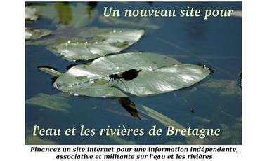 Project visual Un nouveau site pour l'eau et les rivières de Bretagne