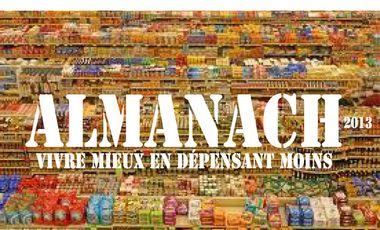 """Project visual Almanach 2013 """"Vivre mieux en dépensant moins"""""""