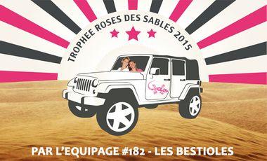 Project visual En route avec l'équipage Les Bestioles pour le Trophée Roses des Sables 2015